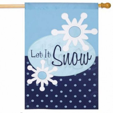 Let it Snow House Flag