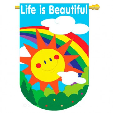 Life is Beautiful House Flag