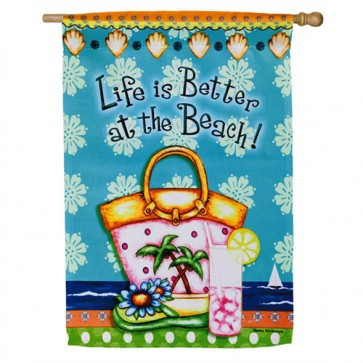 Life is Better at the Beach House flag