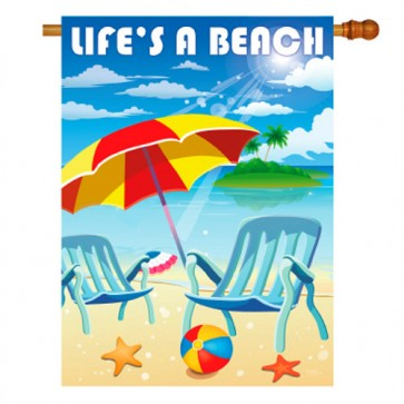 Life's A Beach Summer  House Flag