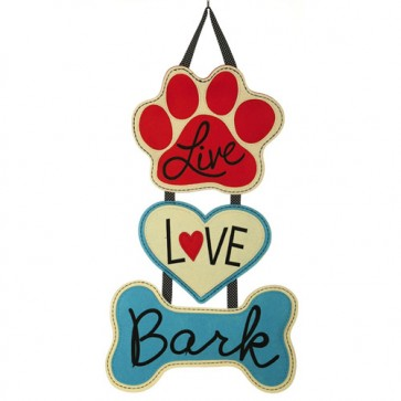 Live Love Bark Door Hanger  (Felt)