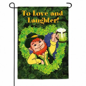 Love and Laughter Garden Flag