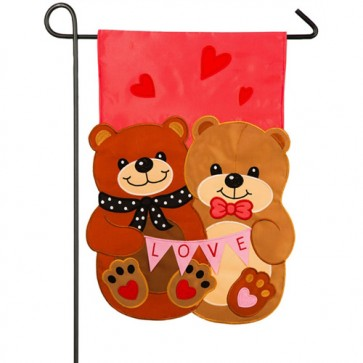 Love Bears all Things Valentine's Day Garden Flag