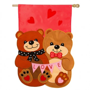 Love Bears All Things Valentines Day House Flag