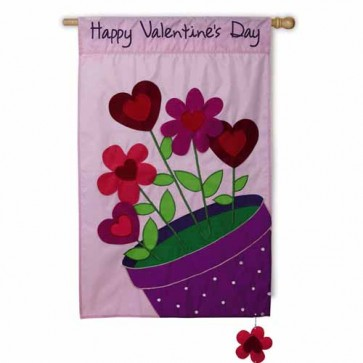 Love Blossoms House Flag