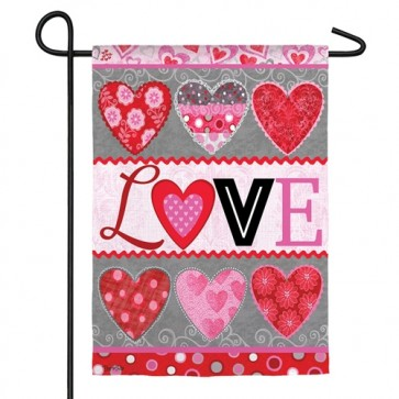 Love Collage Garden Flag