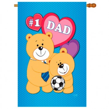 Love DAD Fathers Day House Flag
