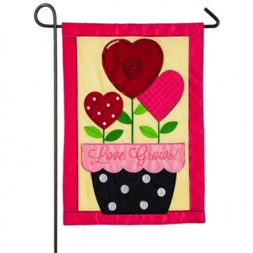 Love Grows Valentine's Day Garden Flag
