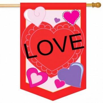 Love Hearts House flag