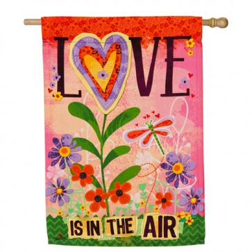 Love is in the Air Valentines Day House Flag