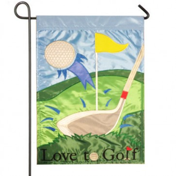Love to Golf Garden Flag