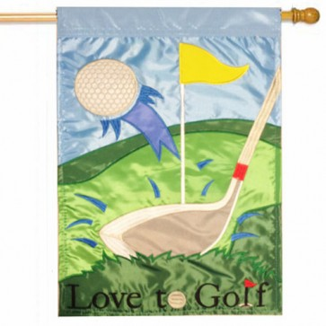 Love to Golf House Flag