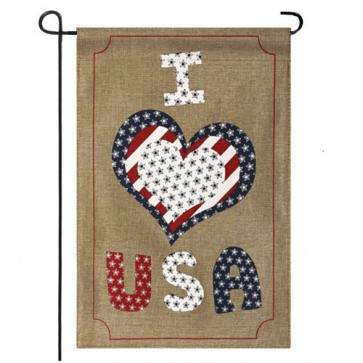 Love USA Garden Flag (Two Flags in One!)