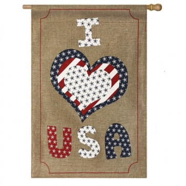 Love USA House Flag (Two Flags in One!)