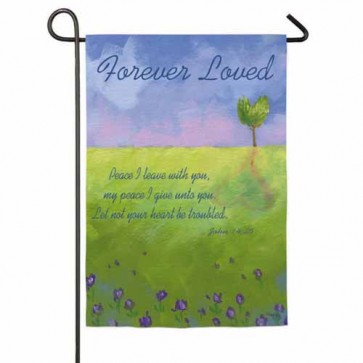 Lovely Landscape Memorial Garden Flag