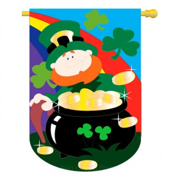 Lucky Irish St Patrick's Day House Flag