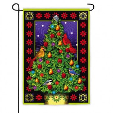 Luxe Christmas Tree Garden Flag