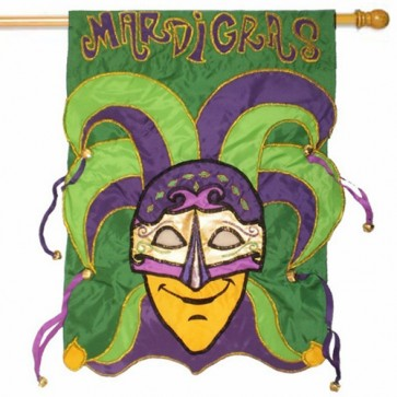 Mardi Gras Bells   House Flag