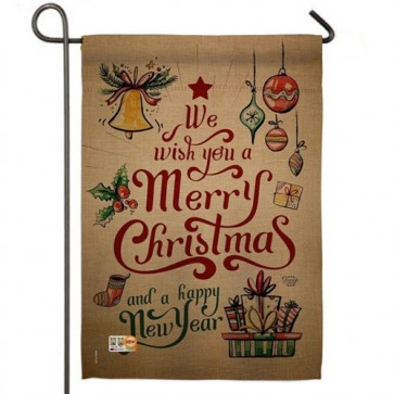 Merry Christmas and a Happy New Year  Garden Flag