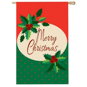 Merry Christmas House Flag