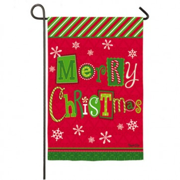 Merry Christmas Ornaments Garden Flag