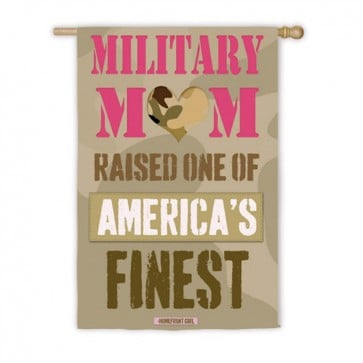Military Mom House Flag