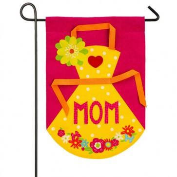 Mom's Apron Mother's Day Garden Flag