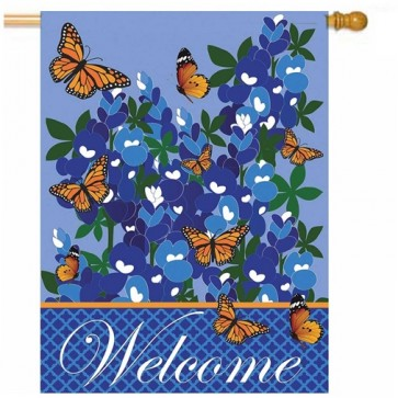 Monarch Butterflies House Flag