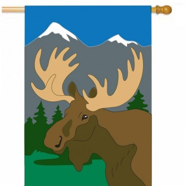 Moose   House Flag