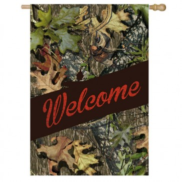 Mossy Oak Welcome House Flag