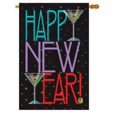 New Year Martini House Flag
