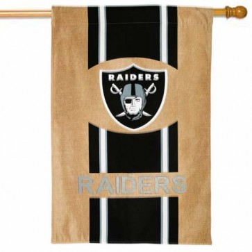Raiders Burlap House Flag