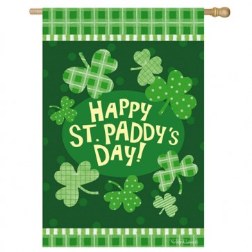 Paddy's Party St Patrick's Day House Flag