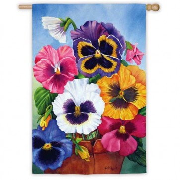 Pansy Pot House Flag