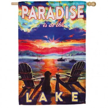 Paradise Lake House Flag  (Two Different Sides)