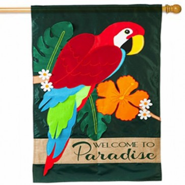 Parrot Paradise Summer House Flag
