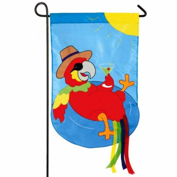 Parrot Summer Time Garden Flag