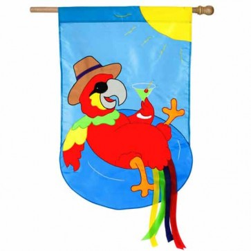 Parrot Summer Time House Flag