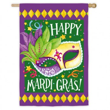 Party Gras Mardi Gras House Flag