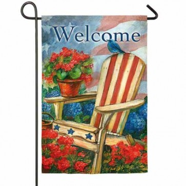 Patriotic Bluebird  Garden Flag