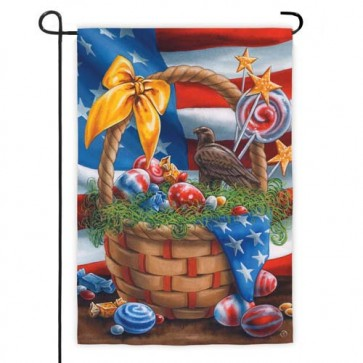 Patriotic Easter Garden Flag