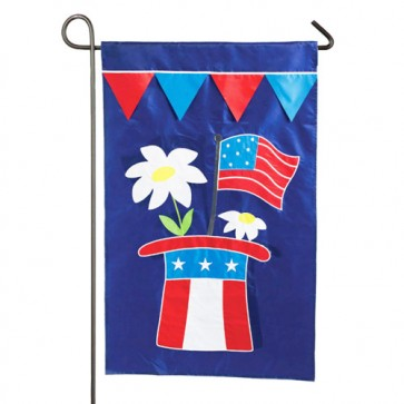 Patriotic Hat Garden Flag