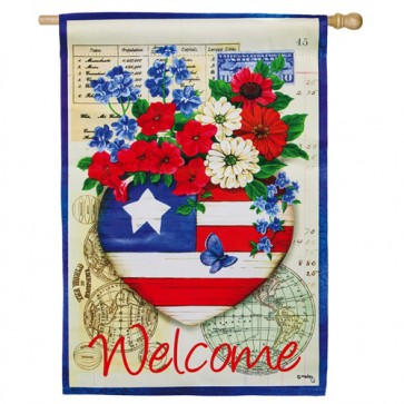Patriotic Memories House Flag