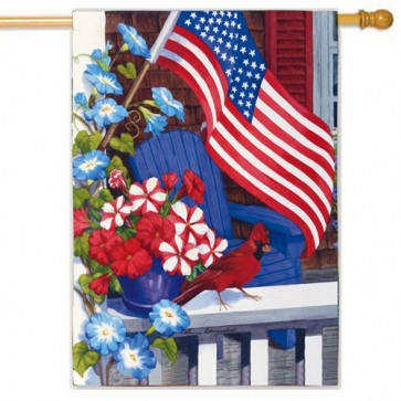 Patriotic Perch Patriotic House Flag