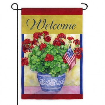 Patriotic Pot Garden Flag