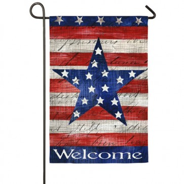 Patriotic Stripes and Star Garden Flag