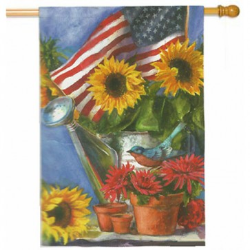Patriotic Sunflower Estate Flag