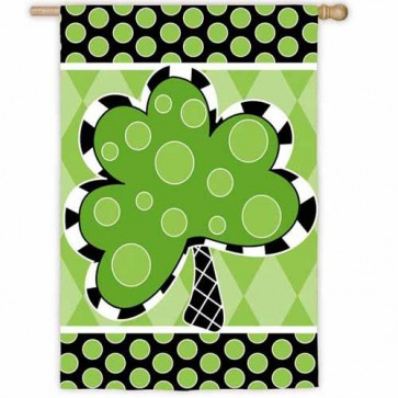 Patterned Shamrock House Flag
