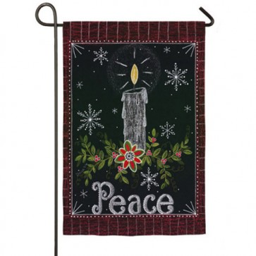 Peace Candle Garden Flag