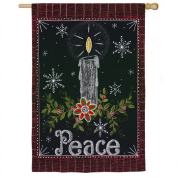 Peace Candle (Two Flags in One!)